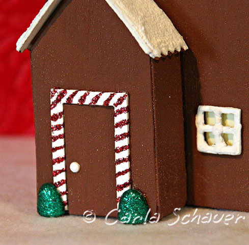 sizzix gingerbread house craft door