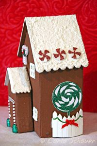sizzix gingerbread house die side view