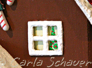 sizzix gingerbread house detail