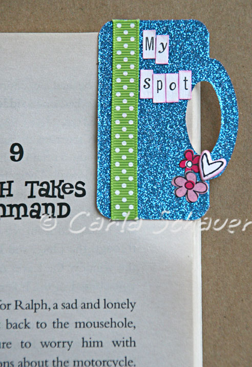 sizzix scoreboards treat topper bookmark