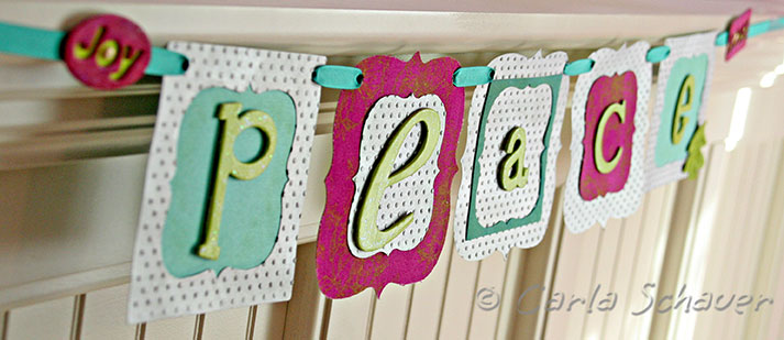 homemade peace banner sizzix blog hop