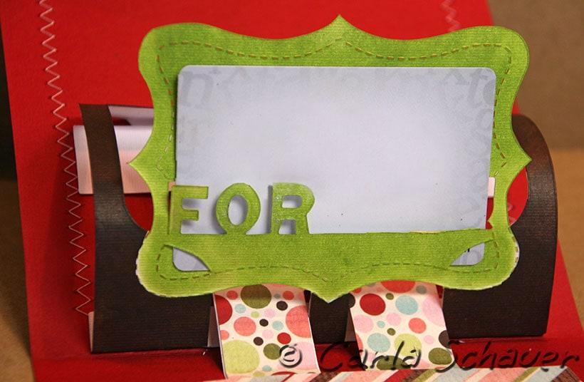 sizzix pop up 3d gift card holder detail