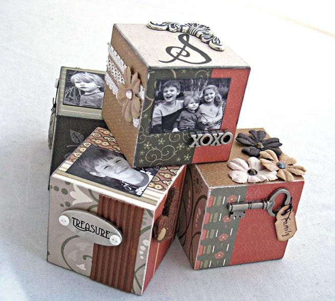 Handmade decorative photo blocks by Carla Schauer