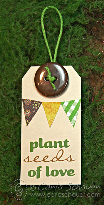 Paper Banner Tag by Carla Schauer