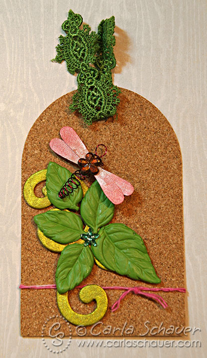 Mixed media tag colored with ink, by carla schauer