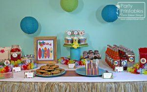 Hawaiian Birthday Luau Party Printable Kit