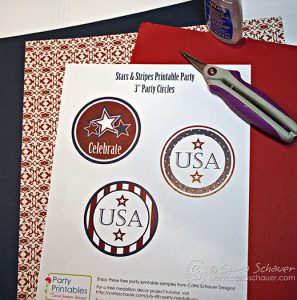 July 4th printable paper medallion materials