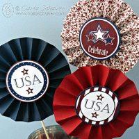 Patriotic Party Medallion Decorations