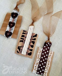 Upcycled brown paper gift tags from jen goode