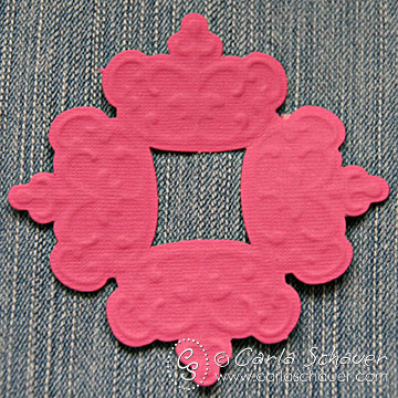 Embossed die-cut paper tag