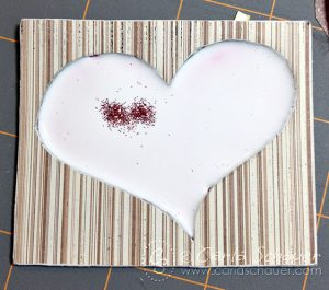 Making a glitter filled chipboard tag