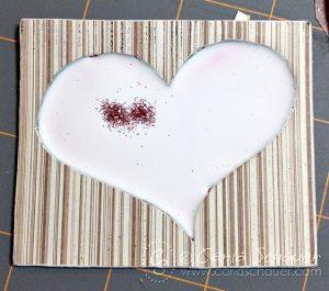 Making a glitter filled chipboard tag