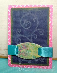 Layering Stamps and Pigment Ink–Tag Tuesday