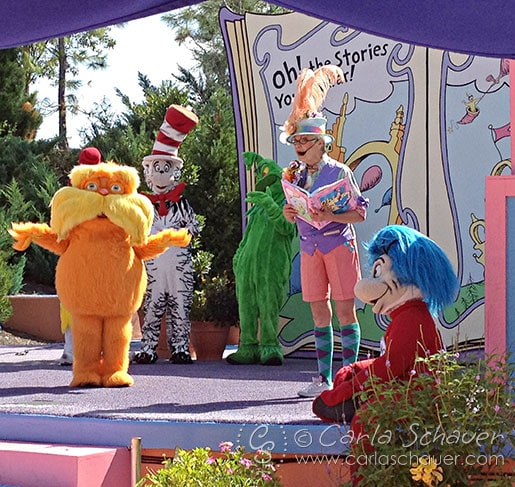 Lorax storytelling show at Islands of Adventure Orlando