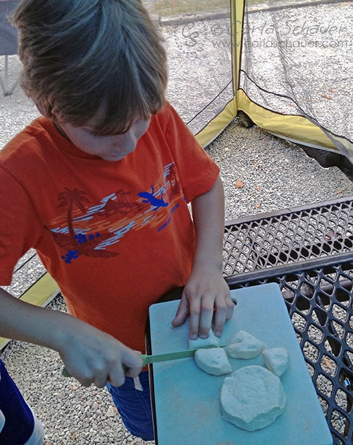 Cooking Monkey Bread with Tweens-Camping