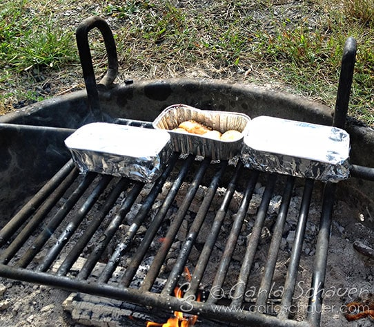Cooking Monkey Bread on Campfire with Tweens