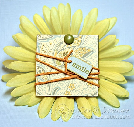 Decoupaged wood gift tag or embellishment