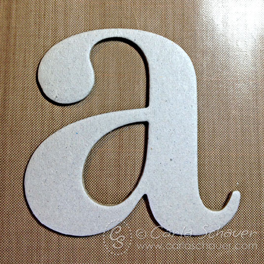 Making woodgrain monogram from chipboard
