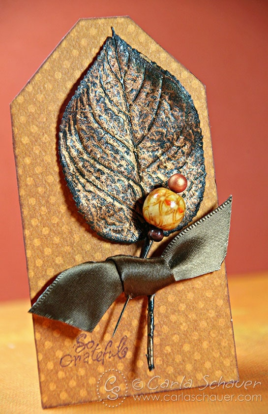 Make a Beaded Stick Pin for a Fall Gift Tag