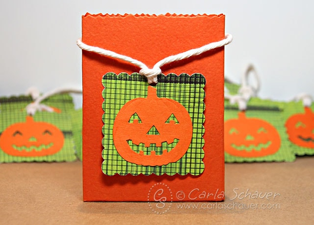 Halloween Tags using craft punches by Carla Schauer Designs