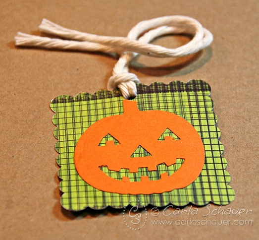 Halloween Tag made with punches by Carla Schauer Designs
