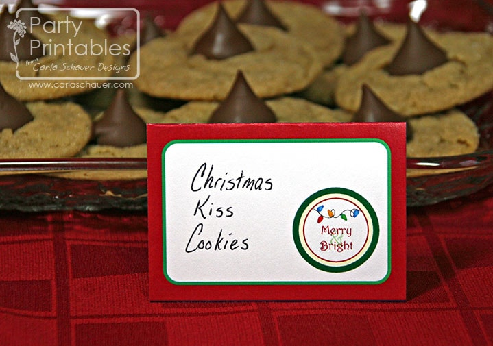 Christmas Lights Printable Party Kit Buffet Labels from Carla Schauer Designs