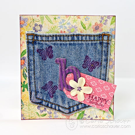 Denim Pocket Gift Card Holder by Carla Schauer Designs