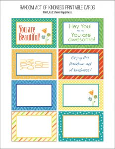 Random Act of Kindness Free Printables