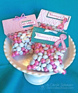 Pink Ribbon Treat Bag Toppers