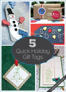5 Quick Holiday Gift Tags from Carla Schauer Designs