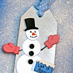 Winter Snowman Holiday GiftTag