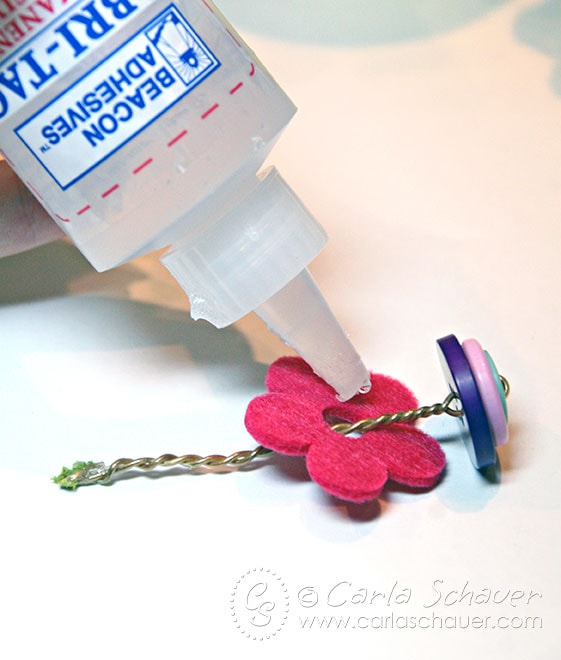 Make button topiary flowers with tutorial from Carla Schauer Designs