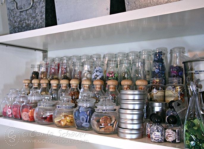 Button Jar Storage Solution--Carla Schauer Designs Studio