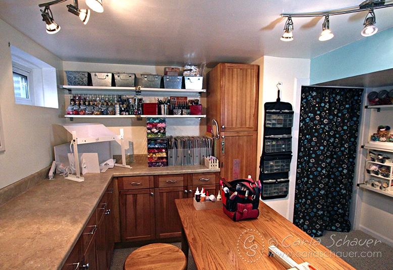 Cabinet Wall Storage Solution--Carla Schauer Designs Studio
