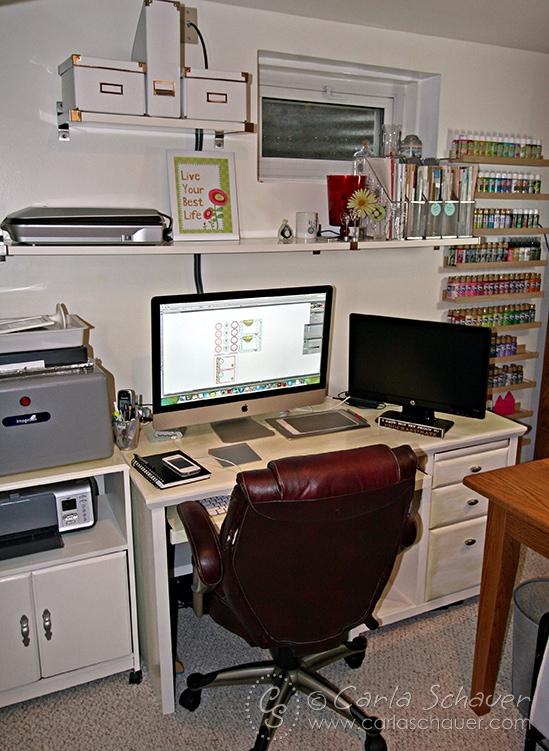 Computer Design Space--Carla Schauer Designs Studio