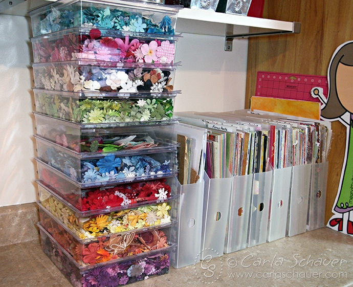 Flower and Paper Craft Storage--Carla Schauer Designs Studio