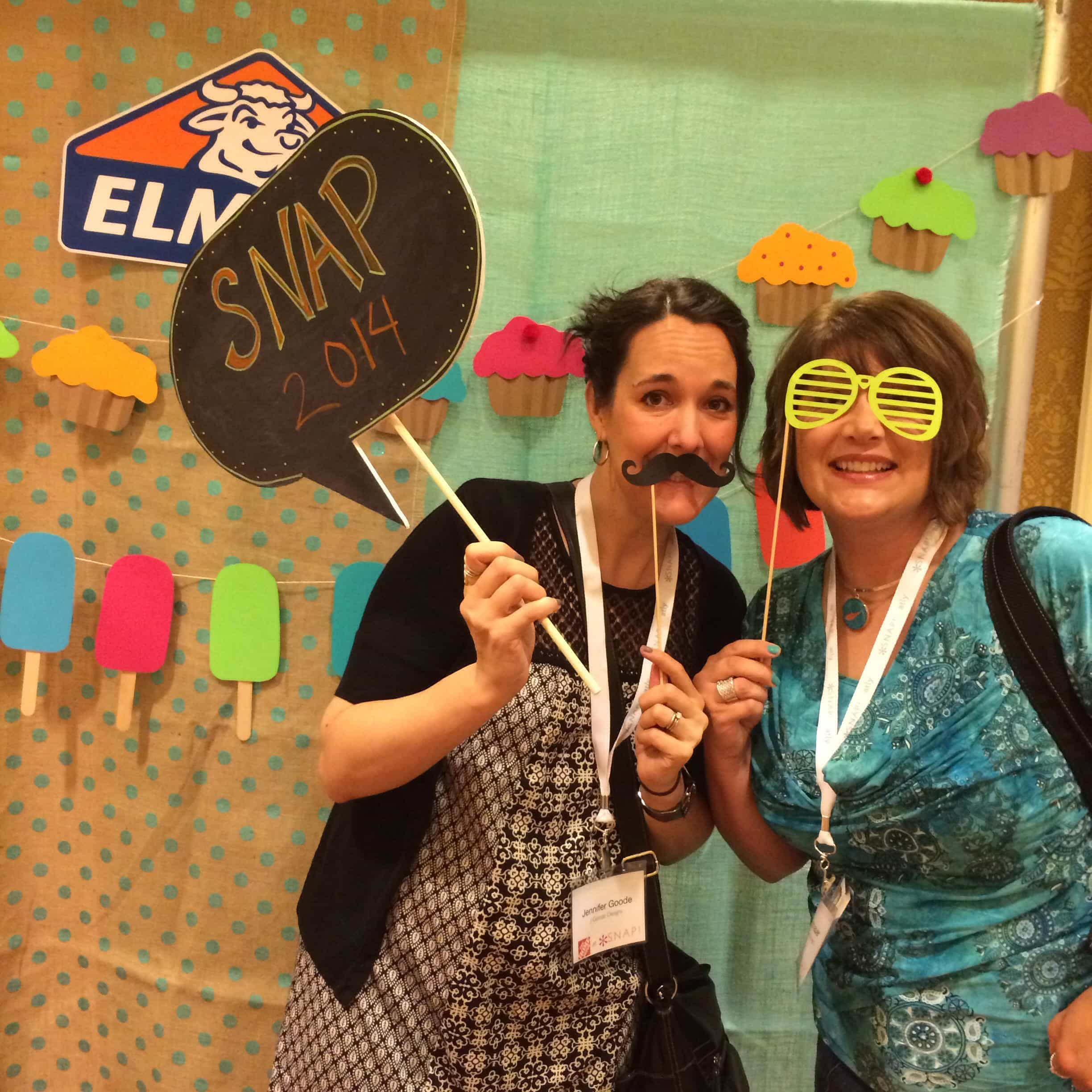 Elmers Glue photo booth at SNAP! 2014