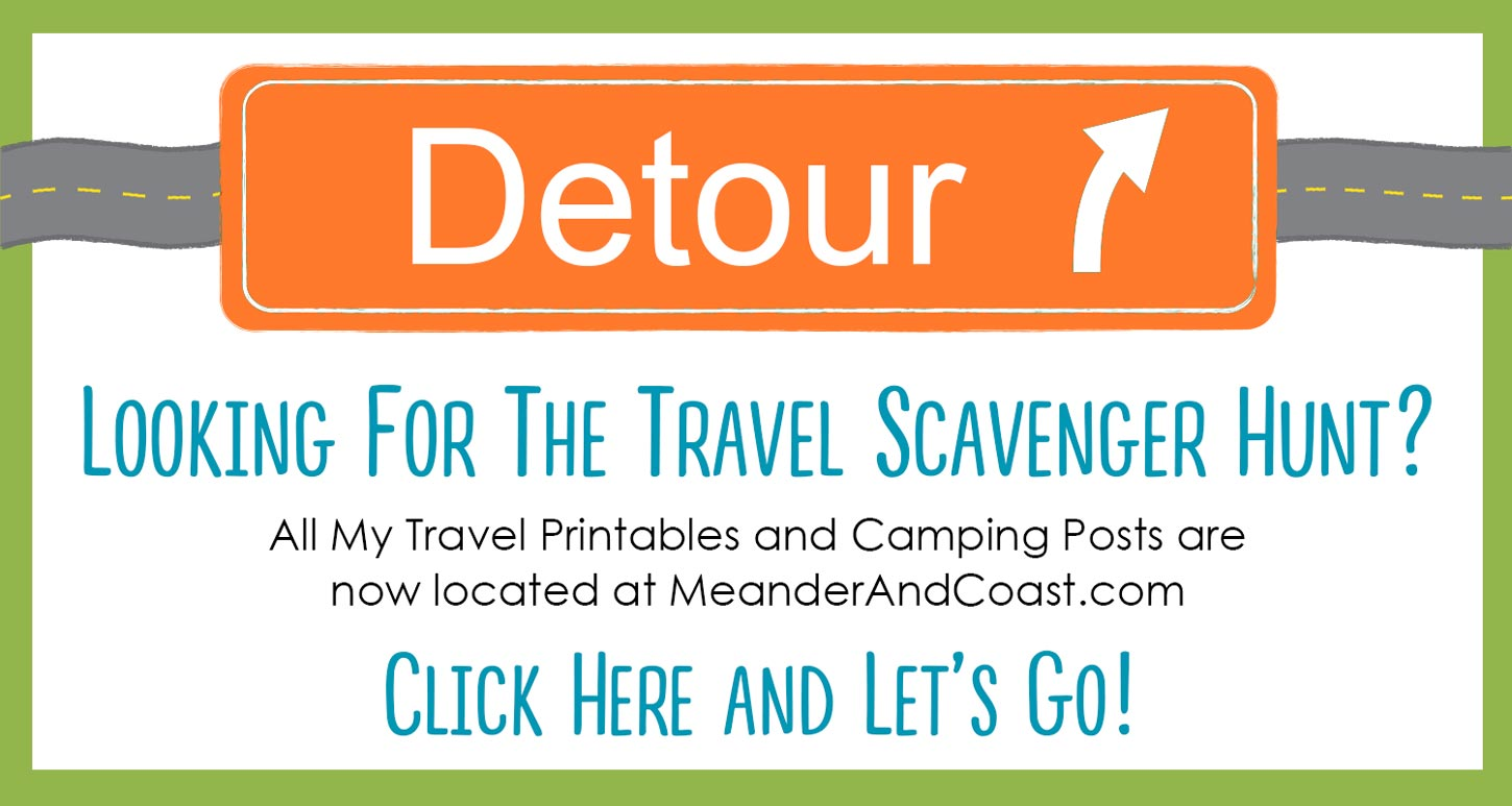 Travel Scavenger Hunt for Tweens and Teens is now located at Meander & Coast.