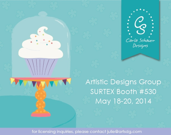 Carla Schauer Designs art for licensing.  Surtex 2014 Booth #530