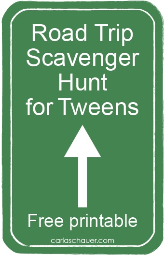 Free Printable Travel Scavenger Hunt for Tweens from carlaschauer.com
