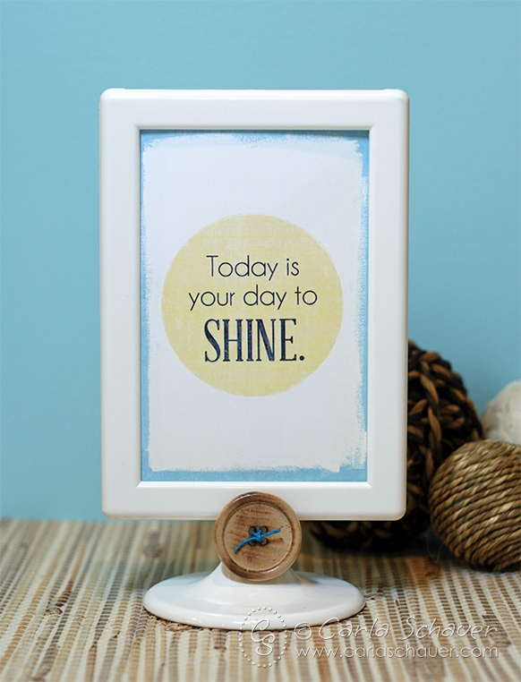"""Shine"" printable inspiration image. Free on carlaschauer.com"