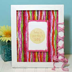 Make a fabric embellished frame with printable inspiration. Tutorial from Carla Schauer Designs