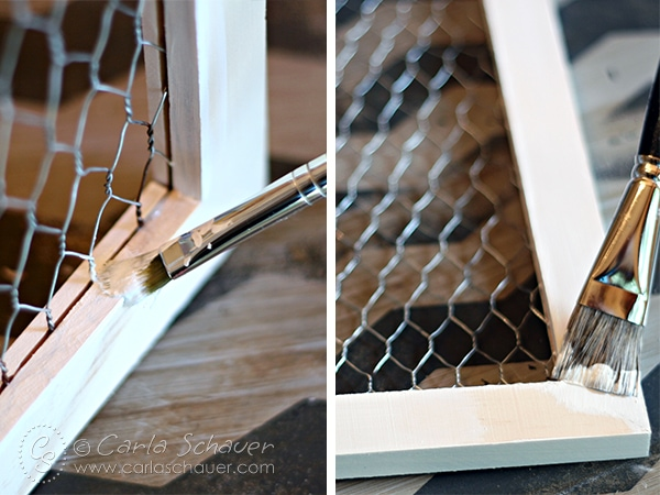 Make a fabric-backed frame. Tutorial from Carla Schauer Designs