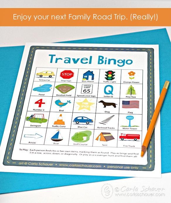 Free Printable Travel Bingo for Kids