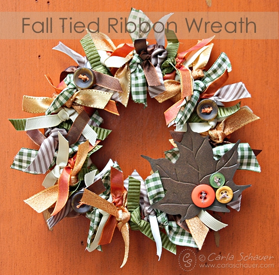 Fall Tied Wribbon Wreath from Carla Schauer Designs