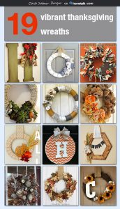 19 Thanksgiving wreath ideas with color and texture.