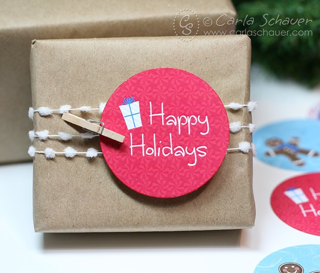Free printable holiday gift tags from Carla Schauer Designs.