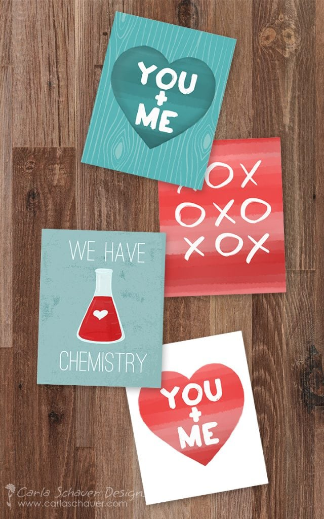 Valentine Art Printables by Carla Schauer Designs on Etsy