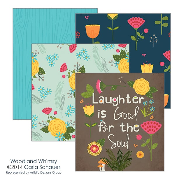 Woodland Whimsy Collection Preview from Carla Schauer Designs