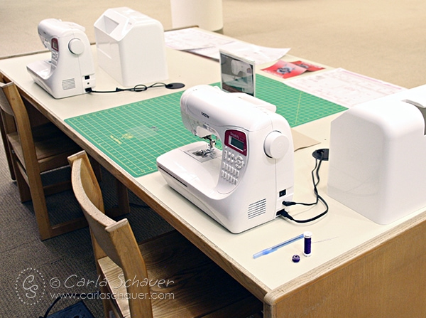 Makerspace Sewing Table. See what you can do in a MakerSpace.